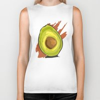 avocado Biker Tanks featuring avocado by P.A. Yingling