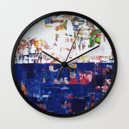 Myth Modern Art Blue Wall Clock