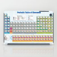 periodic table iPad Cases featuring Periodic Table of Elements by Hans Duenas