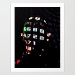digital portret Art Print