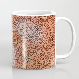 fall vibes orange doodle acrylic wood board Coffee Mug