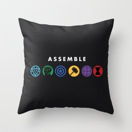Assemble Throw Pillow