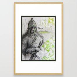 Turambar Framed Art Print