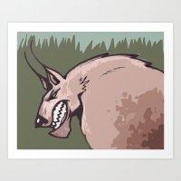 werewolf Art Prints featuring Werewolf by Jamie Clayton
