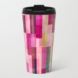 Pinks and Parallels Metal Travel Mug