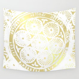 power of one: white gold Wall Tapestry