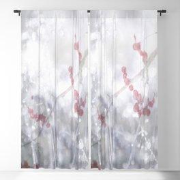Winter Scene Rowan Berries With Snow And Bokeh #decor #buyart #society6 Blackout Curtain