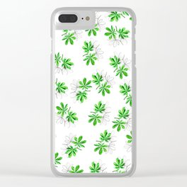 Green summer pattern Clear iPhone Case