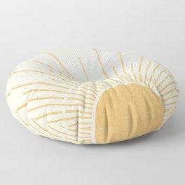 Sun #5 Yellow Floor Pillow