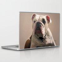 british Laptop & iPad Skins featuring British Bulldog by Mel Hampson