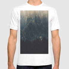 THE BRIGHTER SIDE OF DARKNESS MEDIUM White Mens Fitted Tee