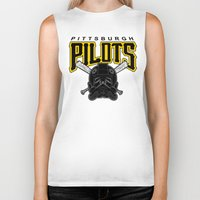 pittsburgh Biker Tanks featuring Pittsburgh Pilots by Ant Atomic