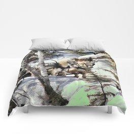 Horses in the Winter Comforters