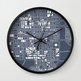Abstract city plan Wall Clock