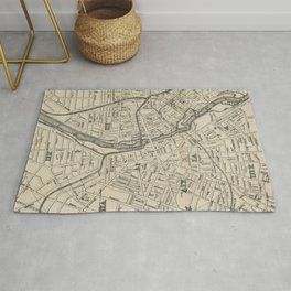 Vintage Map of Rochester NY (1872) Rug