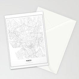 Porto, Portugal Minimalist Map Stationery Cards