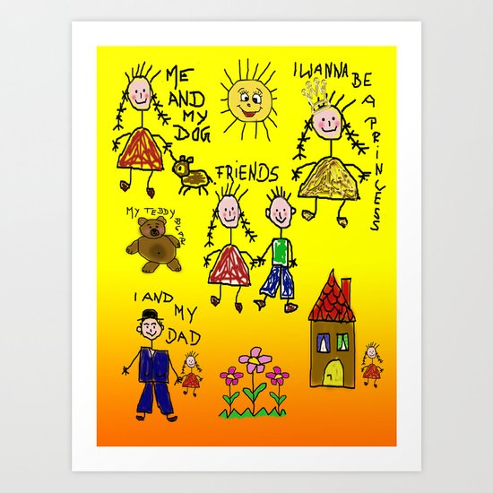 Children Collage Art Print