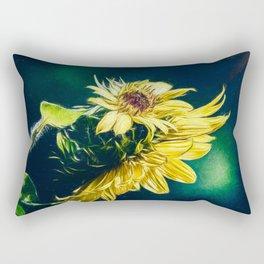 Sunflower At Sunrise Rectangular Pillow