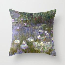 """Claude Monet """"Water lilies""""(2) Throw Pillow"""