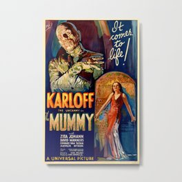 Vintage poster - The Mummy Metal Print