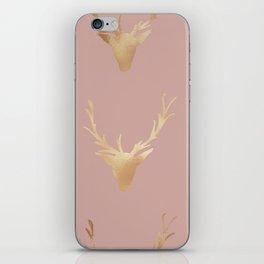 Gold Foil Deer, Wall Tapestry, Art-Prints, Deer Art Prints, Nature iPhone Skin