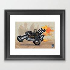 Use Verb on Noun #1: Full Throttle Framed Art Print