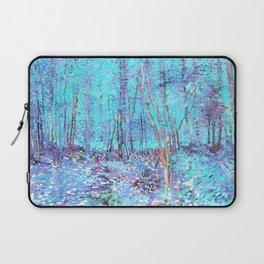 Van Gogh Trees & Underwood Aqua Lavender Laptop Sleeve