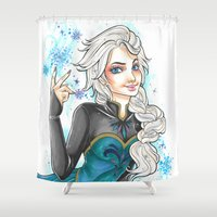 elsa Shower Curtains featuring Elsa by foxandolive