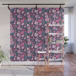 Watercolor florals  Wall Mural