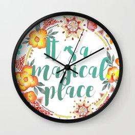 Tahiti. It's a Magical Place Wall Clock