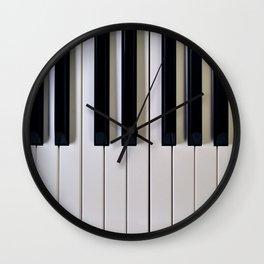 Piano Keys Upright Wall Clock