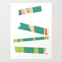 bambi Art Prints featuring Bambi by Katlix Design