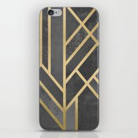 deco iPhone & iPod Skins featuring Art Deco Geometry 1 by Elisabeth Fredriksson