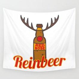 Reinbeer Christmas Beer Reindeer Xmas Drinking Rudolf Gift Idea Wall Tapestry