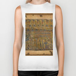 Ancient Egyptian Funerary Scroll pre 944 BC Biker Tank