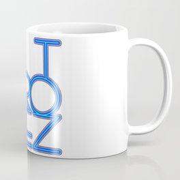 St. Tropez in blue neon Coffee Mug