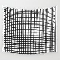 grid Wall Tapestries featuring Grid by FrankieStudio