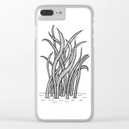 Windy Day Water Plant Clear iPhone Case