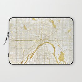 St Paul Map Gold Laptop Sleeve