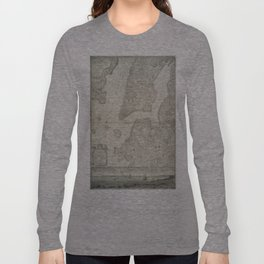 Vintage Map of New York City (1776) Long Sleeve T-shirt