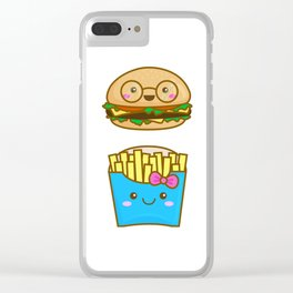 We go together like burger and fries Clear iPhone Case