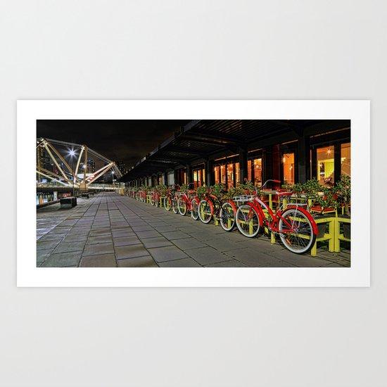 Ride to the bridge Art Print