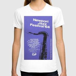 1964 Newport Jazz Festival Vintage Advertisement Poster Newport, Rhode Island T-shirt
