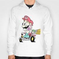 mario kart Hoodies featuring Mario Kart by Le Hamburger
