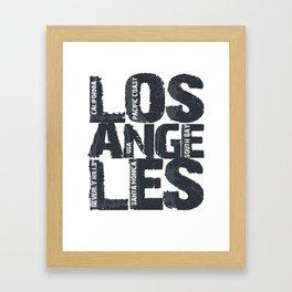 Artistic Los Angeles California Gift Typographic Framed Art Print