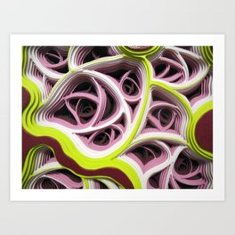 Necrotic Radimafungle Movement #1 (Detail) Art Print
