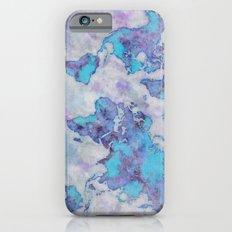 World Map Purple iPhone 6 Slim Case