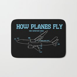 Aerospace Engineer Gift I How Planes Fly Bath Mat