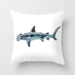 Great Hammerhead Shark Throw Pillow