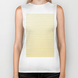 Simple Sunflower Yellow and Stripes Biker Tank